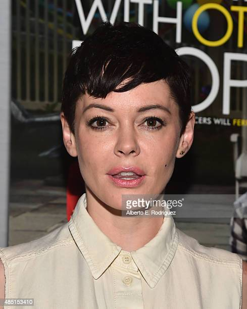 Actress Rose McGowan attends the Tastemaker screening of IFC Films' 'Sleeping With Other People' on August 24 2015 in Los Angeles California