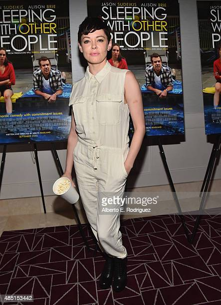 Actress Rose McGowan attends the Tastemaker screening of IFC Films' Sleeping With Other People on August 24 2015 in Los Angeles California