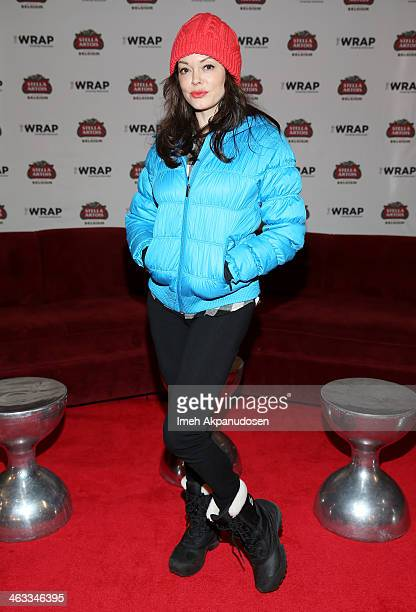 Actress Rose McGowan attends The Village At The Lift on January 17 2014 in Park City Utah