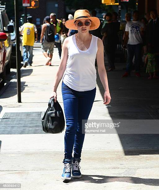 Actress Rose McGowan is seen walking in Soho on August 10 2015 in New York City