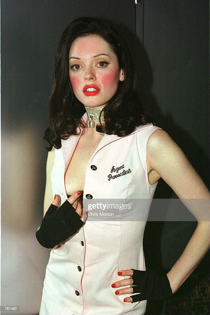 Actress Rose McGowan Models Lingerie : News Photo