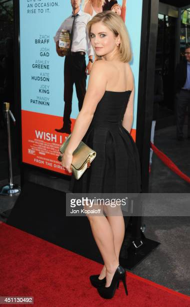 Actress Rose McIver arrives at the Los Angeles Premiere Wish I Was Here at the DGA on June 23 2014 in Hollywood California