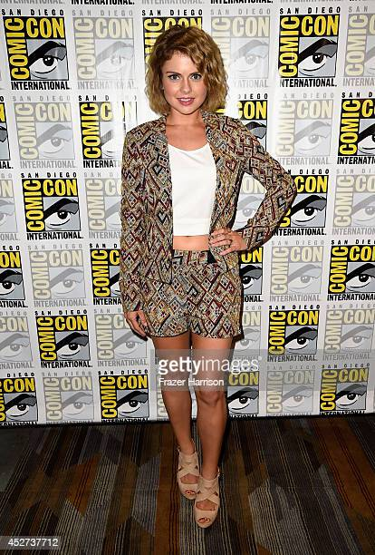 Actress Rose McIver attends 'Frank Miller's Sin City A Dame To Kill For' Press Line during ComicCon International 2014 at Hilton Bayfront on July 26...
