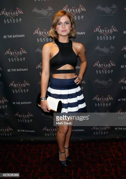 Actress Rose McIver attends Warner Bros Interactive Entertainment's 'Cape/Cowl/Create' event in downtown San Diego a celebration of the iconic...