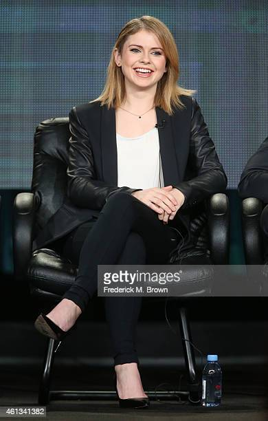 Actress Rose McIver speaks onstage during the 'iZombie' panel as part of The CW 2015 Winter Television Critics Association press tour at the Langham...