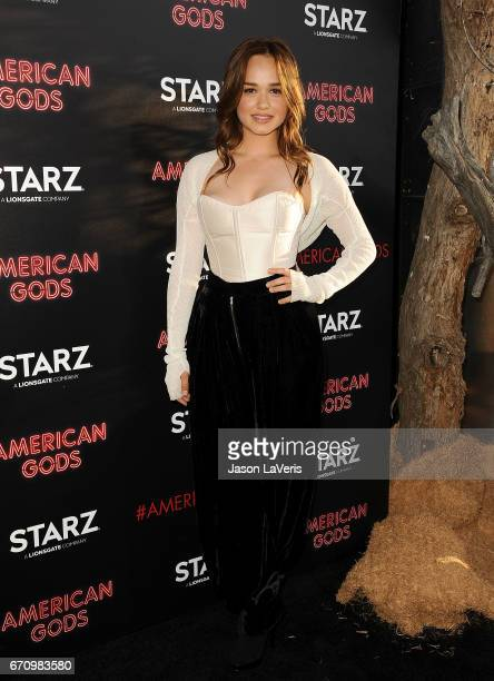 Actress Rose Williams attends the premiere of American Gods at ArcLight Cinemas Cinerama Dome on April 20 2017 in Hollywood California