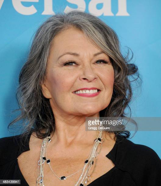 Actress Roseanne arrives at NBC/Universal's 2014 summer Press Day at Langham Hotel on April 8 2014 in Pasadena California