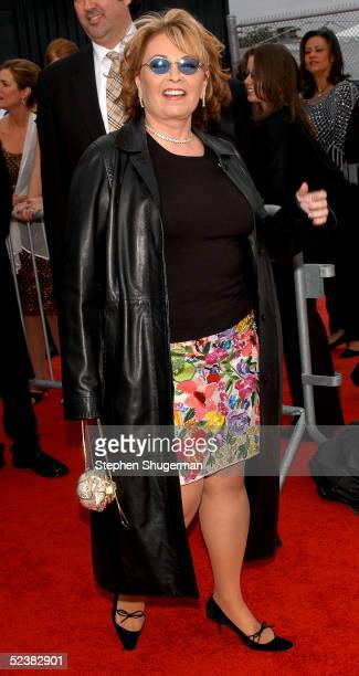 Actress Roseanne Barr arrives at the 2005 TV Land Awards at Barker Hangar on March 13 2005 in Santa Monica California