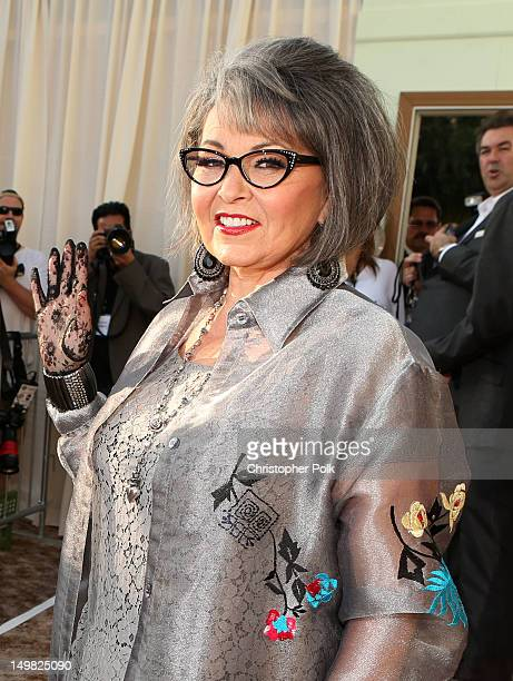 Actress Roseanne Barr arrives at the Comedy Central Roast of Roseanne Barr at Hollywood Palladium on August 4 2012 in Hollywood California