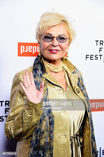 Actress Roseanne Barr arrives at the Tribeca Film Festival Celebrates The 2015 Tribeca Film Festival Program And Tribeca Film's 2015 Upcoming...