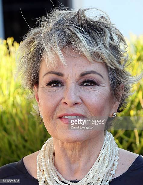 Actress Roseanne Barr attends a photo call for Roseanne Barr's 'Roseanne for President' at Sundance Sunset Cinema on July 1 2016 in Los Angeles...
