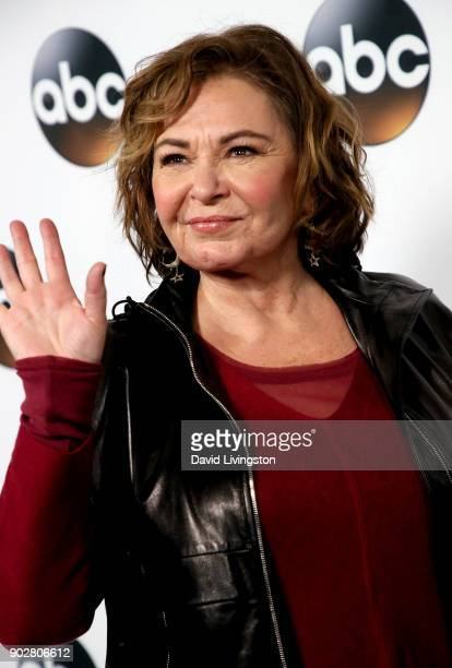 Actress Roseanne Barr attends Disney ABC Television Group's TCA Winter Press Tour 2018 at The Langham Huntington Pasadena on January 8 2018 in...