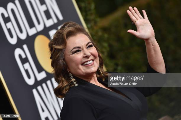 Actress Roseanne Barr attends the 75th Annual Golden Globe Awards at The Beverly Hilton Hotel on January 7, 2018 in Beverly Hills, California.