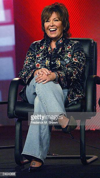 Actress Roseanne Barr attends the ABC Summer Press Tour at the Hollywood Renaissance Hotel on July 14 2003 in Hollywood California Barr is expected...