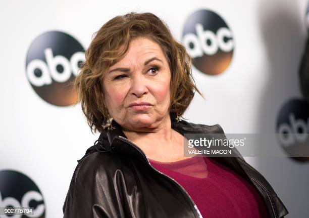 Actress Roseanne Barr attends the Disney ABC Television TCA Winter Press Tour on January 8 in Pasadena California / AFP PHOTO / VALERIE MACON