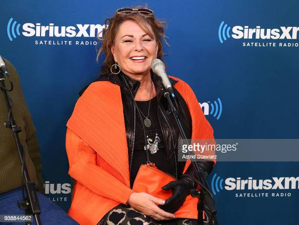 Actress Roseanne Barr speaks during SiriusXM's Town Hall with the cast of Roseanne on March 27 2018 in New York City