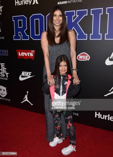 Actress Roselyn Sanchez and daughter Sebella Rose Winter attend ROOKIE USA Fashion Show at Milk Studios on February 15 2018 in Los Angeles California