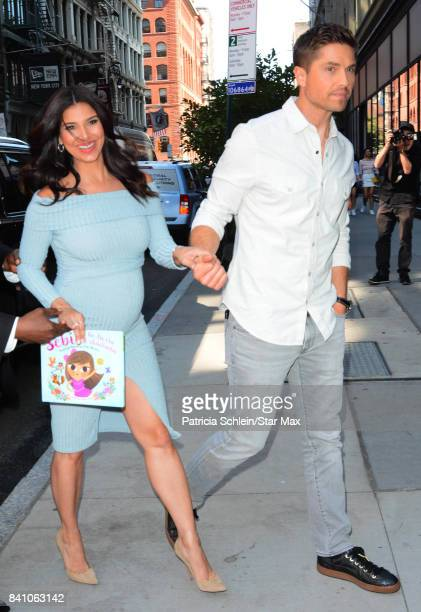 Actress Roselyn Sanchez and Eric Winter are seen on August 30, 2017 in New York City.