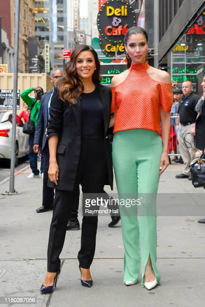 Actress Roselyn Sanchez and Eva Longoria are seen outside Good Morning America on June 17 2019 in New York City