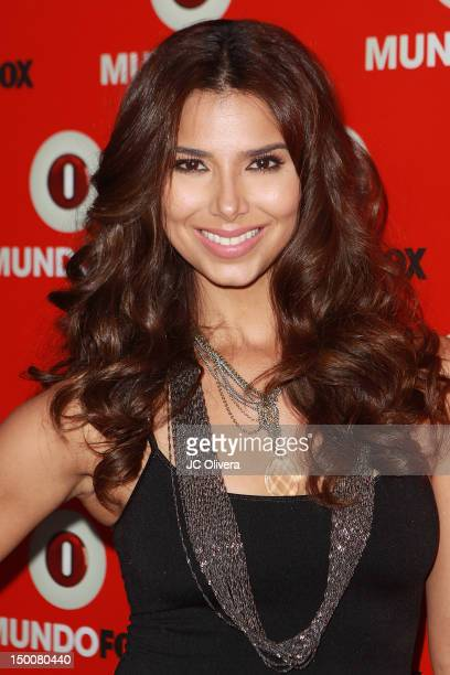 Actress Roselyn Sanchez arrives at MundoFox launch party at Club Nokia LA Live on August 9 2012 in Los Angeles California
