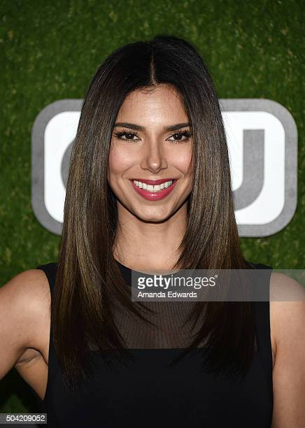Actress Roselyn Sanchez arrives at the 2016 World Dog Awards at Barker Hangar on January 9 2016 in Santa Monica California