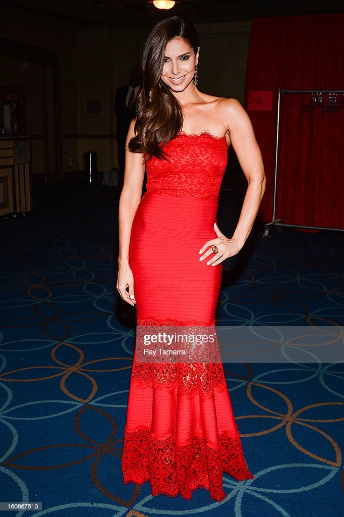 Actress Roselyn Sanchez attends The Heart Truth's Red Dress Collection Fall 2013 Mercedes-Benz Fashion Show at 499 Seventh Avenue on February 6, 2013 in New York City.