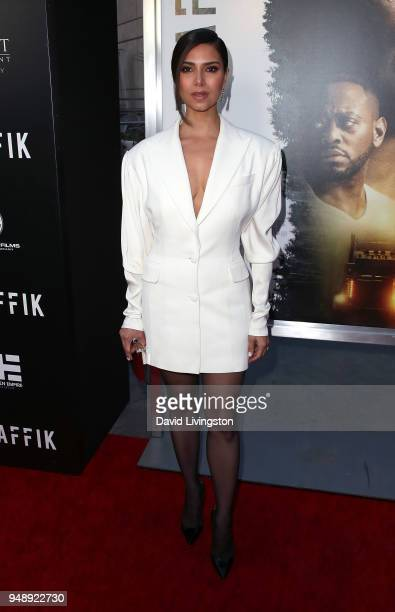 Actress Roselyn Sanchez attends the premiere of Codeblack Films' 'Traffik' at ArcLight Hollywood on April 19 2018 in Hollywood California
