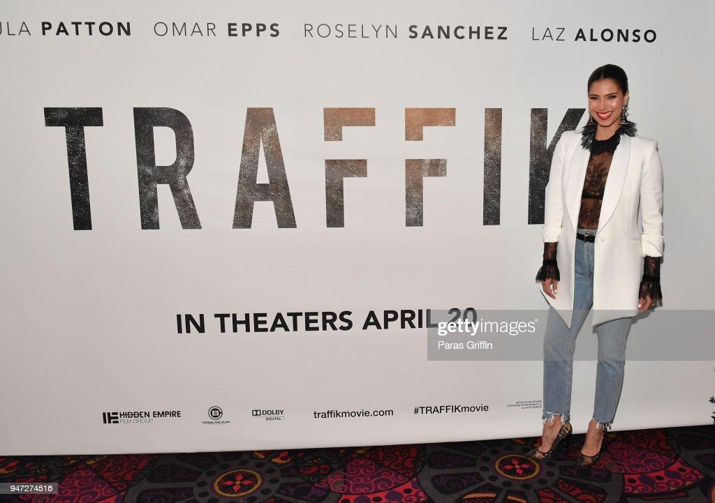 Actress Roselyn Sanchez attends 'Traffik' Atlanta VIP Screening at Regal Atlantic Station on April 16, 2018 in Atlanta, Georgia.