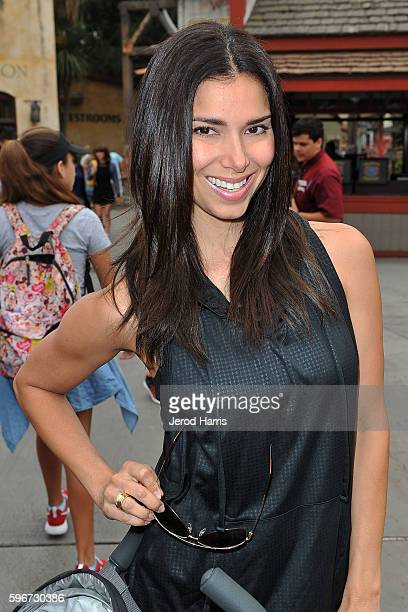 Actress Roselyn Sanchez visits at Knott's Berry Farm on August 27 2016 in Buena Park California