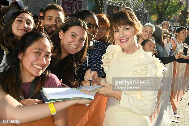 Actress Rosemarie DeWitt attends the La La Land premiere during the 2016 Toronto International Film Festival at Princess of Wales Theatre on...