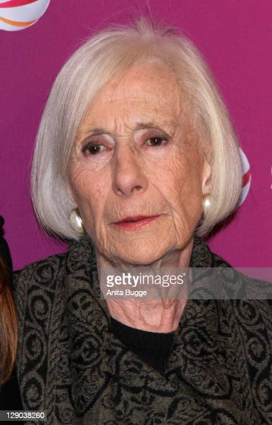 Actress Rosemarie Fendel attends the Am Ende Der Hoffnung Photocall at the Astor Filmlounge movie theater on October 11 2011 in Berlin Germany