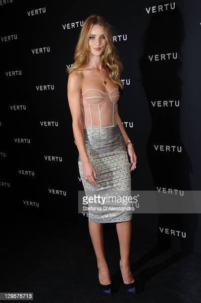 Actress Rosie Huntington attends the Vertu Global Launch Of The 'Constellation' at Palazzo Serbelloni on October 18, 2011 in Milan, Italy