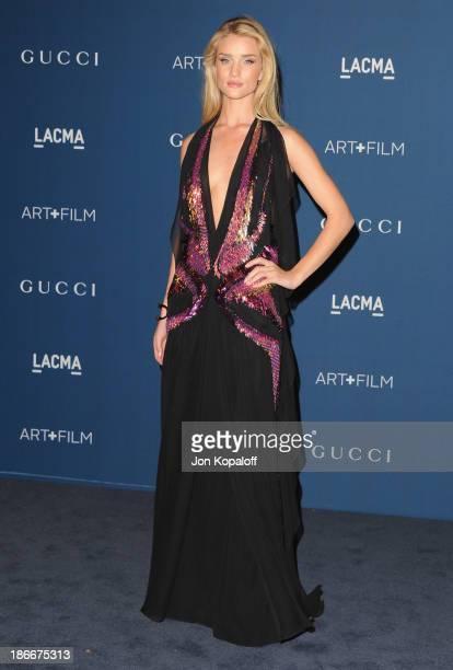 Actress Rosie HuntingtonWhiteley arrives at LACMA 2013 Art Film Gala at LACMA on November 2 2013 in Los Angeles California