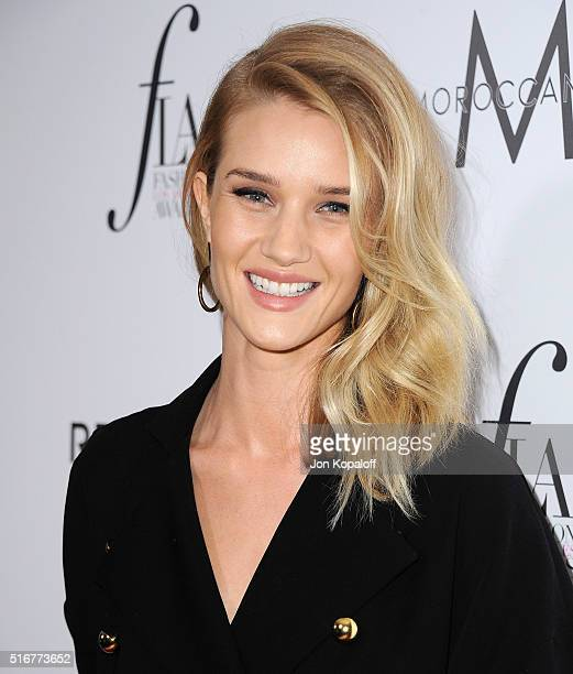 Actress Rosie HuntingtonWhiteley arrives at The Daily Front Row 'Fashion Los Angeles Awards' 2016 at Sunset Tower Hotel on March 20 2016 in West...