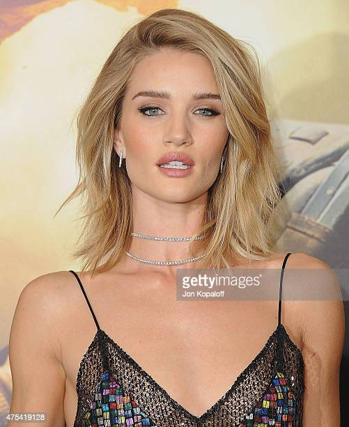 "Actress Rosie Huntington-Whiteley arrives at the Los Angeles Premiere ""Mad Max: Fury Road"" at TCL Chinese Theatre IMAX on May 7, 2015 in Hollywood,..."