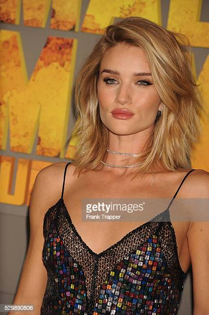 """Actress Rosie Huntington-Whiteley arrives at the premiere of """"Mad Max: Fury Road"""" held at the TCL Chinese Theater in Hollywood."""