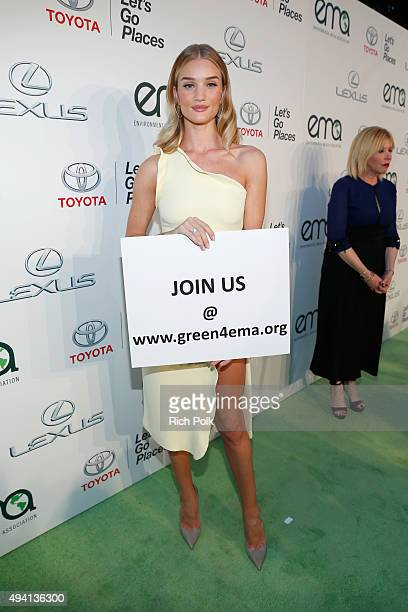 Actress Rosie HuntingtonWhiteley attends the 25th annual EMA Awards presented by Toyota and Lexus and hosted by the Environmental Media Association...