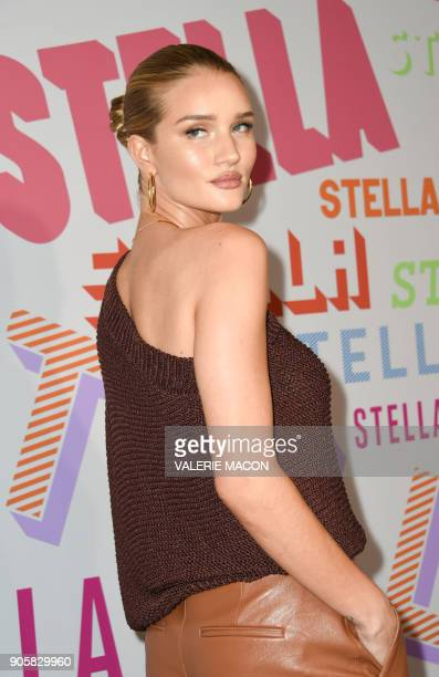 Actress Rosie HuntingtonWhiteley attends the Stella McCartney Autumn 2018 womenswear collection and Autumn Winter 2018 menswear collection on January...
