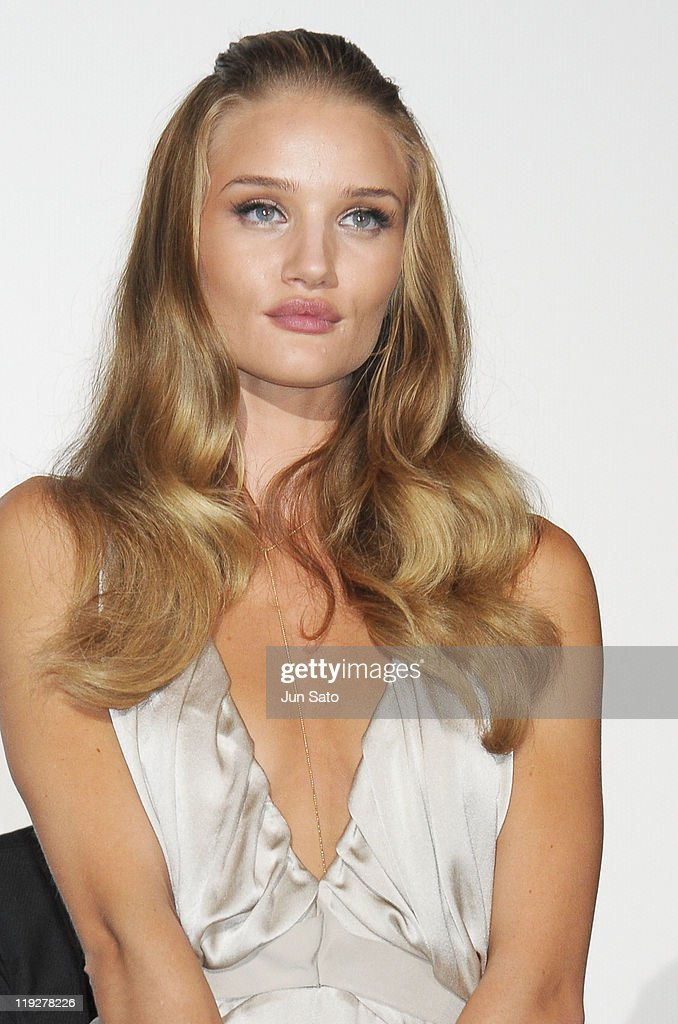 Actress Rosie Huntington-Whiteley attends the 'Transformers: Dark of the Moon' stage greeting at Osaka Station City Cinema on July 16, 2011 in Osaka, Japan. The film will open on July 29 in Japan.