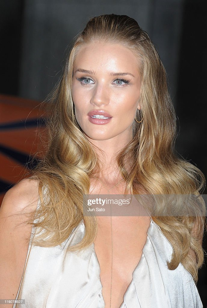 Actress Rosie Huntington-Whiteley attends the 'Transformers: Dark of the Moon' premier event at Osaka City Office on July 16, 2011 in Osaka, Japan. The film will open on July 29 in Japan.