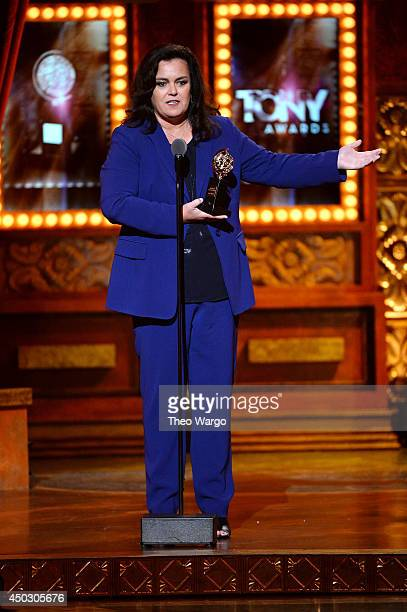 Actress Rosie O'Donnell accepts the Isabelle Stevenson Award onstage during the 68th Annual Tony Awards at Radio City Music Hall on June 8 2014 in...