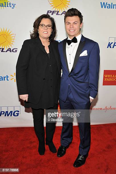 Actress Rosie O'Donnell and Blake Christopher O'Donnell attend PFLAG National's eighth annual Straight for Equality awards gala at Marriot Marquis on...