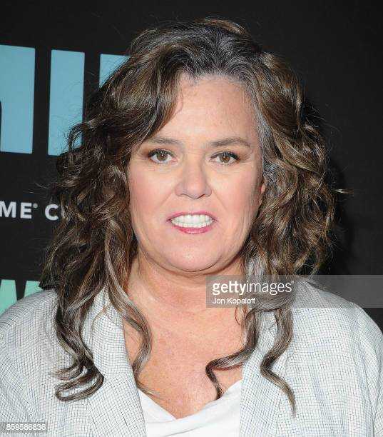 Actress Rosie O'Donnell arrives at the Los Angeles Premiere 'SMILF' at Harmony Gold Theater on October 9 2017 in Los Angeles California