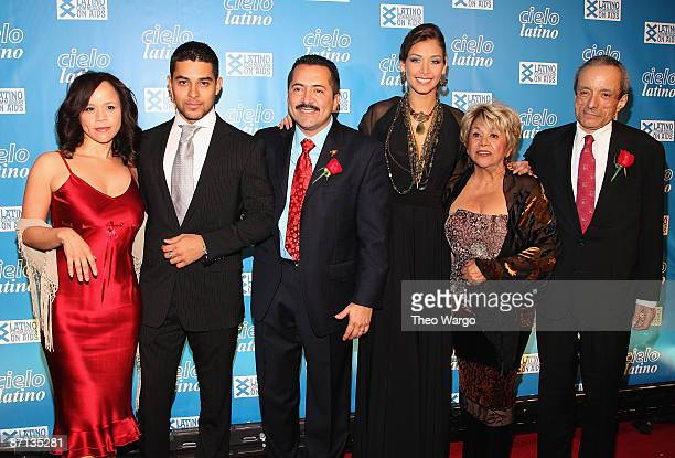 Actress Rosie Perez Actor Wilmer Valderrama Guillermo Chacon VP Lation AIDS Commision Miss Universe Dayana Mendoza Actress Lupe Ontiveros and Dennis...