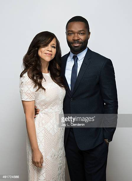 """Actress Rosie Perez and actor David Oyelowo, from the film """"Five Nights in Maine"""" are photographed for Los Angeles Times on September 25, 2015 in..."""