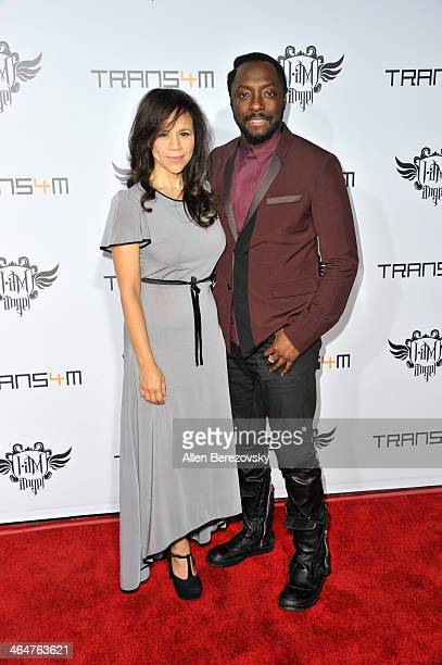 Actress Rosie Perez and host william attend the william hosted third annual TRANS4M concert benefitting the iamangel Foundation at Avalon on January...