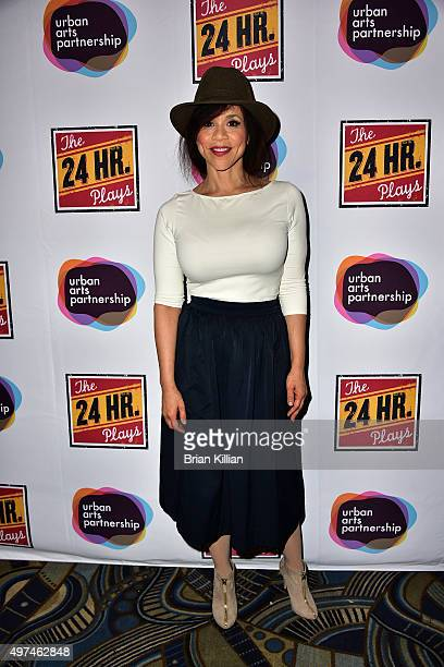 Actress Rosie Perez attends the 2015 24 Hour Plays On Broadway Gala at American Airlines Theatre on November 16 2015 in New York City