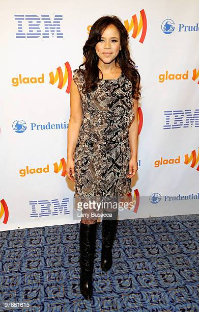 Actress Rosie Perez attends the 21st Annual GLAAD Media Awards at The New York Marriott Marquis on March 13, 2010 in New York, New York.