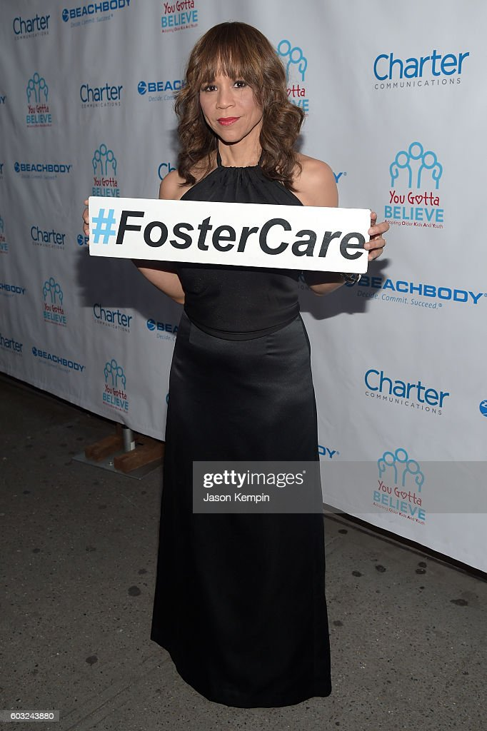 Actress Rosie Perez attends the 2nd Annual Voices For The Voiceless: Stars For Foster Kids Benefit at the Al Hirschfeld Theatre on September 12, 2016 in New York City.
