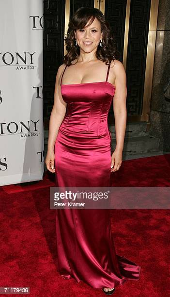 Actress Rosie Perez attends the 60th Annual Tony Awards at Radio City Music Hall June 11 2006 in New York City New York